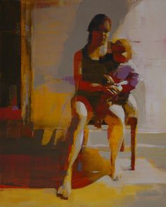 "Saatchi Online Artist Mark Horst; Painting, ""mother and child"" #art"