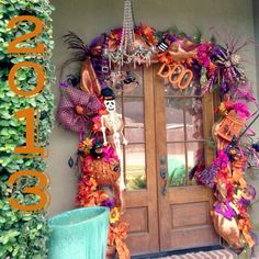 From Mia Robinson Halloween Costumes 2014, Halloween 2019, Holidays Halloween, Halloween Garland, Halloween Decorations, Goblin, Deco Mesh, Special Occasion, Window Boxes