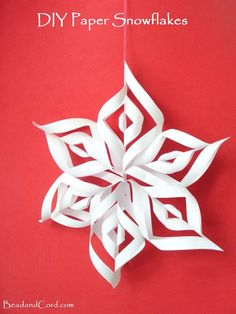 DIY 3D Paper Snowflakes Christmas Ornament