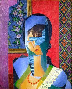 Femme à la dentelle by @artistmetzinger #metzinger #arthistory