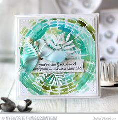 Delicate Pretty Poppies, Blueprints 20 Die-namics, Wild Greenery Die-namics, Concentric Circle Grid Stencil - Julia Stainton  #mftstamps