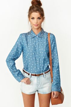 Chambray Heart Shirt omg :))))
