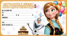 4 invitations anniversaire gratuites reine des neiges à télécharger et un modèle d'invitations payant à personnaliser en ligne avec photo.