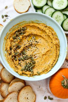 Everything Bagel Pumpkin Hummus   www.floatingkitchen.net