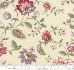 15 Yards in Stock - Moda Fabrics - Jardin de Versailles - Florals Pearl by French General - 13810-12 - 100% Cotton