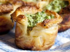Puff Pastry Spinach Cups Recipe