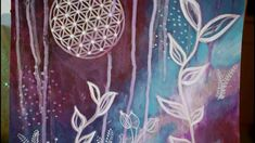 Original Flower of Life Artwork Bohemian Art, Boho, Original Artwork, Original Paintings, Sacred Geometry Art, Acrylic Painting Flowers, Flower Of Life, Hand Painted, Wall Art