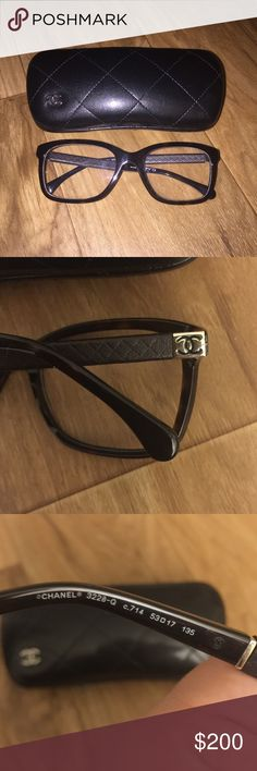 Authentic Chanel optical glasses Gently worn Chanel optical glasses. Currently have prescription lenses in them but those can easily be changed to any RX. 100% Authentic and will come with the case. Case is in good condition with minimal wear. Glasses hardly have any scratches. CC logo on each side along with brown leather quilted pattern. Style number on glasses are: 3228-Q PLEASE NOW LOW BALLING, OFFERS ONLY THROUGH OFFER BUTTON. CHANEL Accessories Glasses