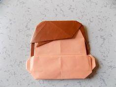 """折り紙 ポコちゃんの髪の毛 簡単な折り方作り方 """"Character"""" Origami - YouTube"""