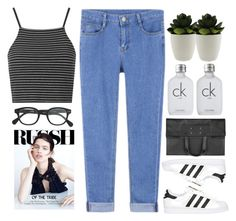 """Untitled #1794"" by tacoxcat ❤ liked on Polyvore featuring Topshop, adidas Originals, J.Crew, Maison Margiela and Calvin Klein"