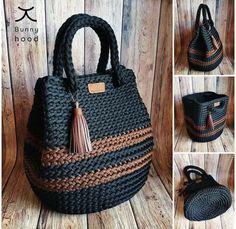 Mode Crochet, Crochet Tote, Crochet Handbags, Crochet Purses, Easy Crochet, Crochet Stitches, Crochet Patterns, Free Crochet Bag, Crochet Bag Tutorials