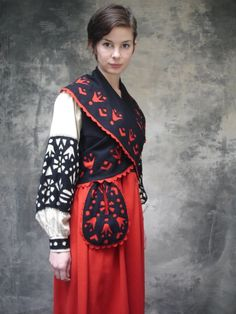 Moravian felt costume dress. I'm Moravian on my mother's side, wish I could sport this for Halloween!  So pretty!
