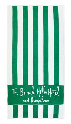 The Beverly Hills Hotel and Bungalow beach towel