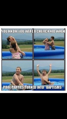 Or we played Sunday School!!