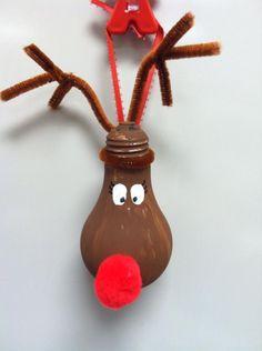 DIY reinder decoration - decorazione a renna da lampadina - fai da te
