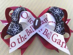 Etsy listing at http://www.etsy.com/listing/150424396/go-team-go-hair-bow-for-ball-game-red