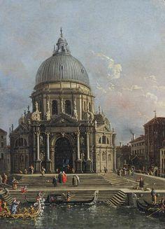 Vue de la basilique de la Salute | Canaletto à Venise - Musée Maillol