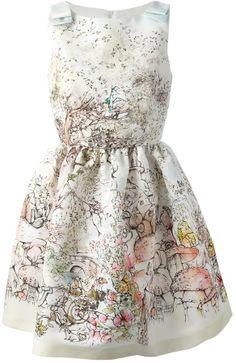 RED Valentino printed sleeveless dress on shopstyle.com
