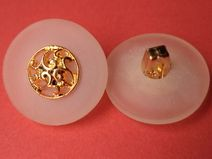 8 KNÖPFE weiss gold 18mm (2931) Jackenknöpfe Knopf