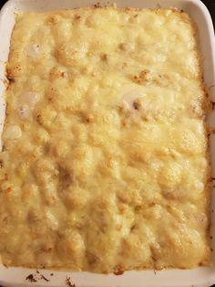 I dag laget jeg noe utrolig godt til middag, blomkål-grateng, Jeg har laget noe lignende tidliger... Lchf, Keto, Macaroni And Cheese, Food Porn, Paleo, Food And Drink, Ethnic Recipes, Diabetes, Board