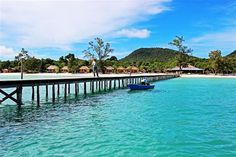 """Koh Rong Samloem island - the """"real"""" paradise on earth in Cambodia Cheap Air Tickets, Cheap Flight Tickets, Laos, Luang Prabang, Sunset Beach, Beach Town, Beautiful Islands, Beautiful Beaches, Best Places To Travel"""