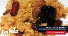 te informamos que estos días de lluvia acabamos de realizar MIGAS, ¿ te apetece un plato? ¡ Ven antes que se acaben ! Reservas 968241668
