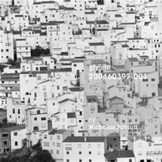 High-Res Stock Photography: Spain Andalusia Malaga Casares cityscape elevated view