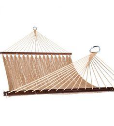 Prime Garden™ Two Point Tight Weave Caribbean Hammock-Tan