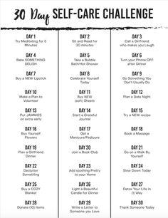 30 Day Self-Care Cha