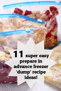 Garlic and Lemon Chicken and 10 other super easy 'dump' recipe ideas {Batch Cooking} {Slow Cooker}....  Feeding a Family can be expensive but there are ways to make it cost less.  This is great for those of you needing a bit of help with meal planning and