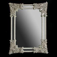 wall mirrors with crystal frames | bb Simon swarovski crystal mirror M-401-CLEAR