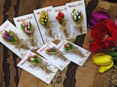 Fimo Clay, Polymer Clay Jewelry, Clay Figures, Christmas Crafts For Kids, Card Tags, Handmade Flowers, Craft Tutorials, Quilling, Tulips