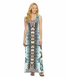 Eva Varro Melanie MirrorPrint Maxi Dress #Dillards