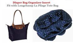 Diaper Bag organizer Insert For Longchamp Le Pliage by obuyme