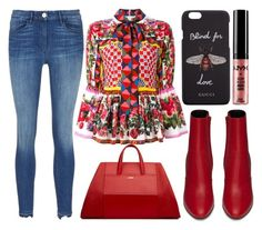 """""""street style"""" by sisaez ❤ liked on Polyvore featuring Dolce&Gabbana, Yves Saint Laurent, Gucci and NYX"""