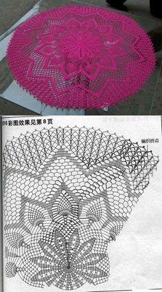 Luty Artes Crochet Centro De Tapetes Crochet Crochet Doilies y Filet Crochet, Crochet Doily Diagram, Crochet Doily Patterns, Thread Crochet, Crochet Motif, Knitting Patterns, Crochet Carpet, Crochet Home, Diy Crochet