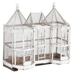 I would love to own this big bird house Big Bird, Small Birds, Antique Bird Cages, Bird Aviary, Bird Boxes, Wild Creatures, Chickens Backyard, Miniature Dolls, Bird Feathers