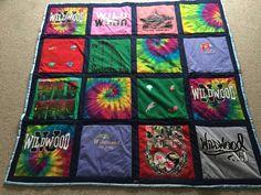 Selena's Wildwood tshirt quilt