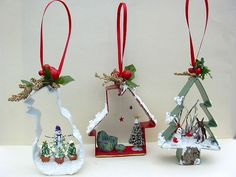 Regular sized cookie cutters with scale scenes by Joan.- Regular sized cookie cutters with scale scenes by Joanne Whisenhunt. Regular sized cookie cutters with scale scenes by Joanne Whisenhunt. Christmas Ornaments To Make, Rustic Christmas, Christmas Projects, Winter Christmas, Christmas Crafts For Kids, Holiday Crafts, Vintage Christmas, Christmas Decorations, Christmas Ideas
