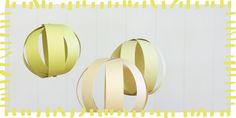 Here Comes The Sun! Paper Globes | Alphamom; after assembly of one side with grommet, use pencil(eraser end) and tissue paper trick to really jazz the strips up!)