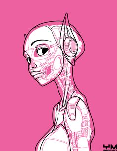 Robot and android anatomy by Yves José Malgorn