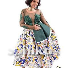 Latest Ndebele Traditional Dresses - Sunika Traditional African Clothes Tsonga Traditional Dresses, Traditional Dresses Designs, African Attire, African Dress, African Outfits, Plus Wedding Dresses, Party Dresses, Nigerian Dress, African Lace Styles