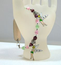 Karen's Artistic Touches Store - Tinkerbell Charm Green Purple Pink Medical ID Replacement Bracelet, $15.99 (http://www.karensartistictouches.com/tinkerbell-charm-green-purple-pink-medical-id-replacement-bracelet/)