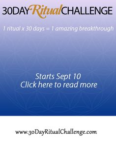 Win a seat in the 30-Day Ritual Challenge #30dayritualchallenge