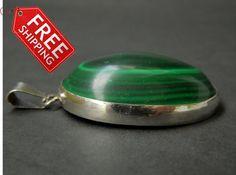 Malachite pendant by JewellByMe on Etsy