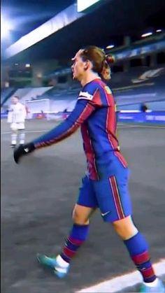 Fc Barcelona Players, Lionel Messi Barcelona, Barcelona Football, Barcelona Soccer, Goals Football, Football Workouts, Antoine Griezmann, Messi Videos, Soccer Images