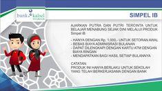 Tabungan SimPel (Simpanan Pelajar) iB Bank Kalsel Syariah