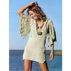 Crochet hoodie PATTERN beach crochet tunic by FavoritePATTERNs