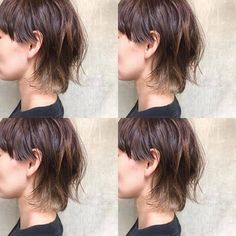 Medium Hair Cuts, Short Hair Cuts, Medium Hair Styles, Curly Hair Styles, Mullet Haircut, Mullet Hairstyle, Asian Short Hair, Asian Hair, Hair Inspo