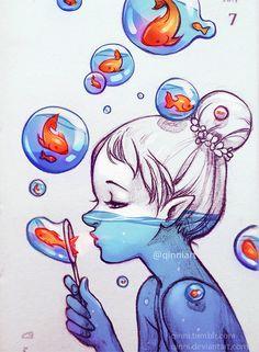 Drawings by Qing Han
